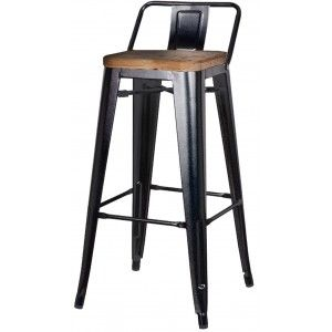 Metropolis low back stool wood seat 32 scratch pad pinterest products stools and woods - Tolix low back bar stool ...
