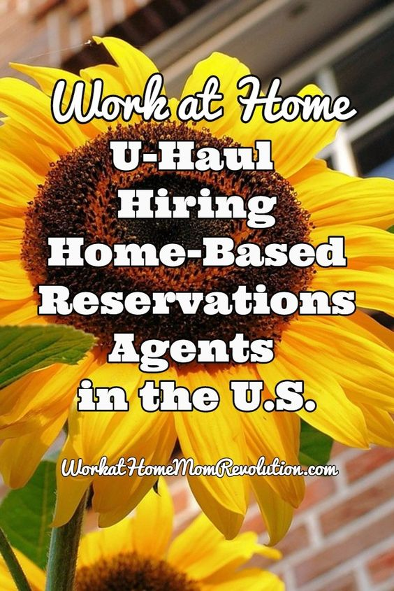 Work at Home: U-Haul Reservations Jobs in U.S. | Job work, Home ...