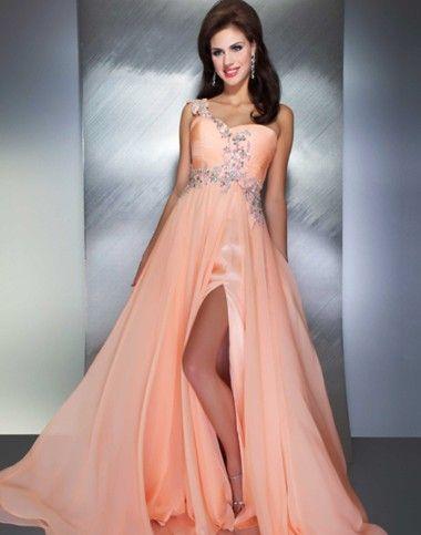 Elegant prom dress by Mac Duggal. This beautiful- fun- coral prom ...