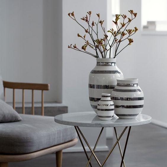 Omaggio vase i sølv fra Kähler