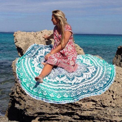 Indian-Hippy-Fleurs-Tenture-Murale-Mandala-Tapis-De-Plage-Serviette