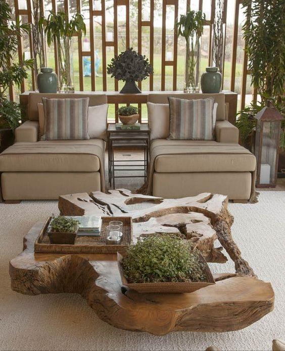 mesa de centro rustica y moderna a la vez mobiliario