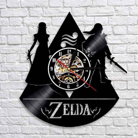 Legend of Zelda Game LP Wall Clock The Legend Of Zelda Vinyl Wall Clock Children Room Decor Zelda Retro Wall Clock Modern Birthday gift