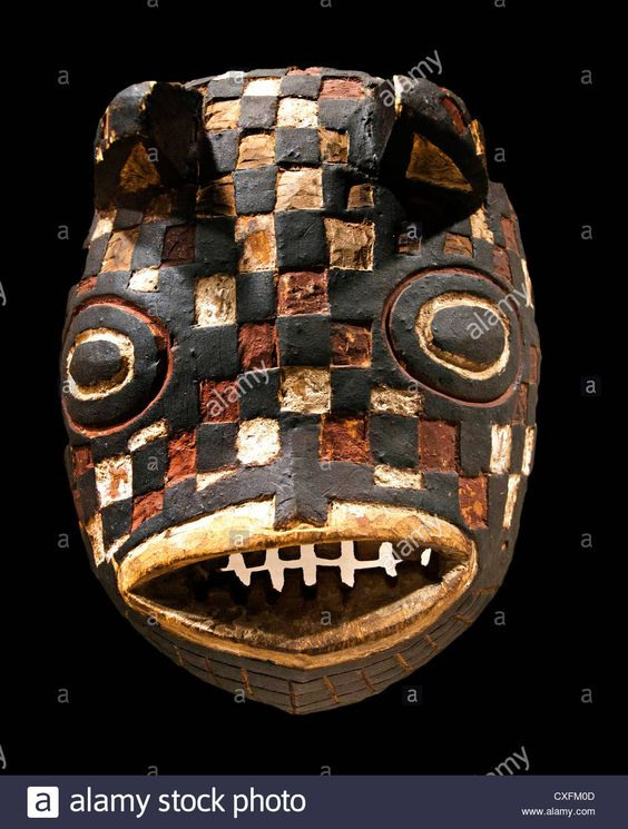Mask Fish ( Basi ) Burkina Faso Bwa Peoples 19 - 20 Century Africa Stock Photo