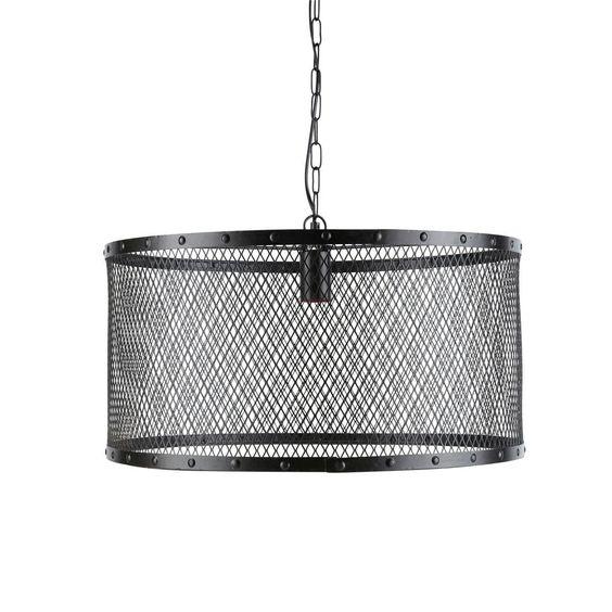 Lampadario nero stile industriale in metallo a griglia D 55 cm LOUIS | Maisons du Monde