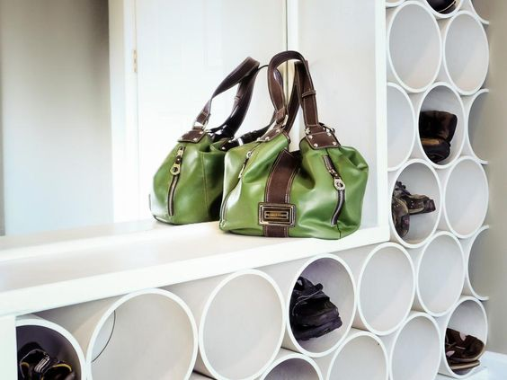 Shoe Storage for Small Spaces - PVC Pipe Shoe Storage