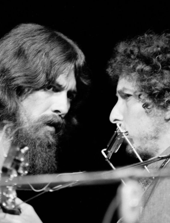 George Harrison & Bob Dylan <3 just two of my most favorite musicians of all time.