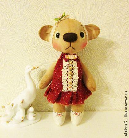 мишка Ася - коричневый,мишка,мишка тедди,мишка ручной работы,медвежонок