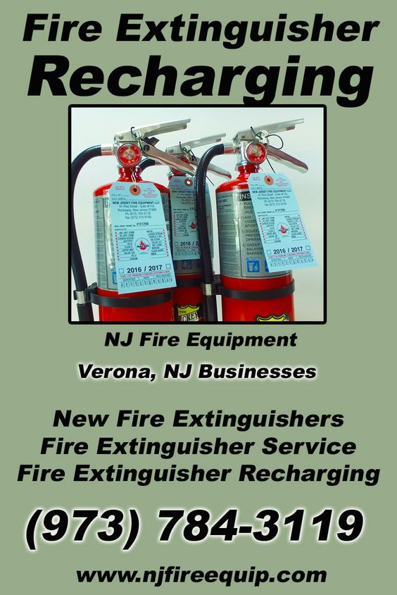 Fire Extinguisher Recharging Verona, NJ (973) 784-3119 We're NJ Fire Equipment. Call Today and Discover the Complete Source for all Your Fire Protection!