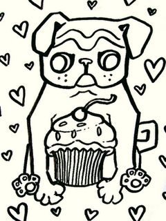 Pinterest the world s catalog of ideas for Coloring pages of pugs