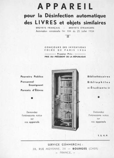 La lavadora de libros para la desinfección automática de libros u objetos similares | Universo Abierto
