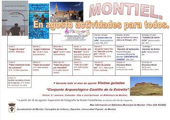 Montiel - Actividades para todos en Agosto