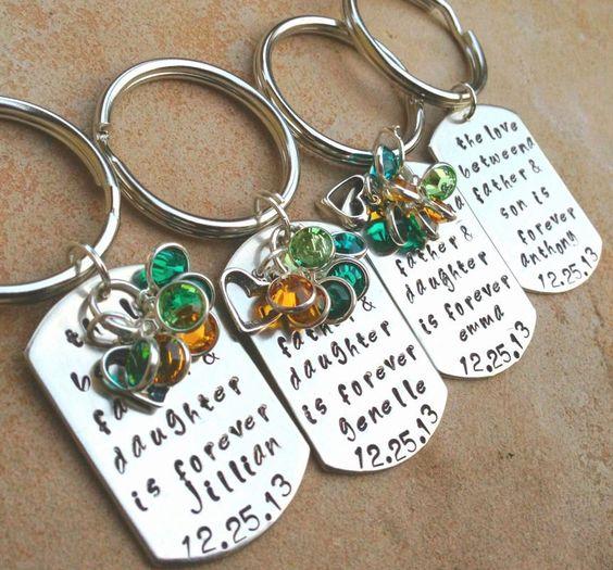 Personalized Key chains, Wedding Key Chains, Bridal Key Chains, Daughter Key Chain, Son Key Chain, Quote Key Chains