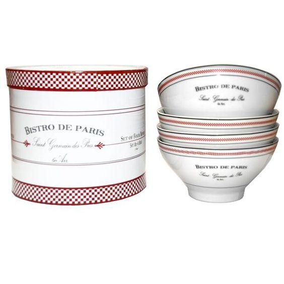 Bistro Set of 4 Bowls
