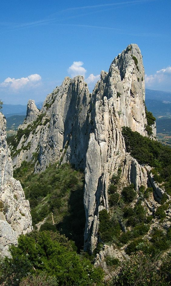 The Dentelles de Montmirail in Provence, Vaucluse, France