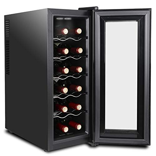 Super Deal 12 Bottle Thermoelectric Wine Cooler Chiller With Digital Control Freestanding Refrigerator W Thermoelectric Wine Cooler Wine Cooler Bottle Storage
