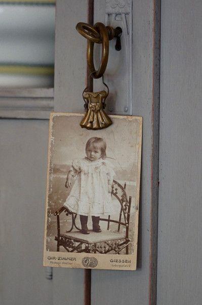 Vintage Deko - 2 Jugendstil Gardinenringe mit Klammer/Clip - ein Designerstück…