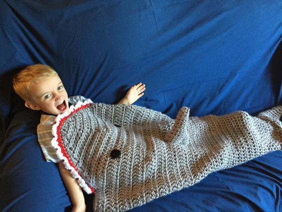 Crocheted Shark Cocoon by EllaGracesPlace on Etsy