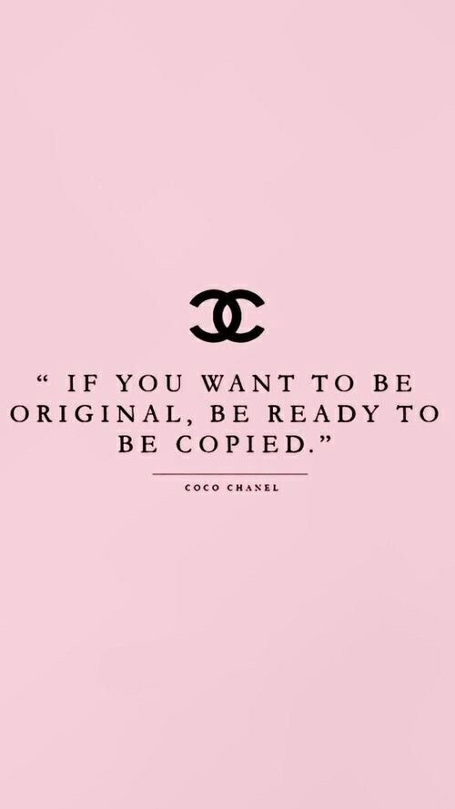 Image About Pink In Quotes By Lenaeva On We Heart It Coco Chanel Wallpaper Chic Quotes Chanel Wallpaper