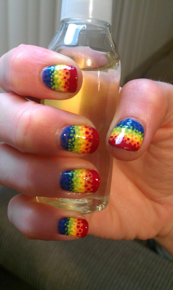 Rainbow dotted gradient (source: GeekyGasm on reddit)