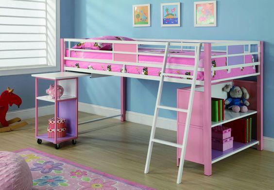 Casual Multi Color Loft Bunk By Coaster Furniture