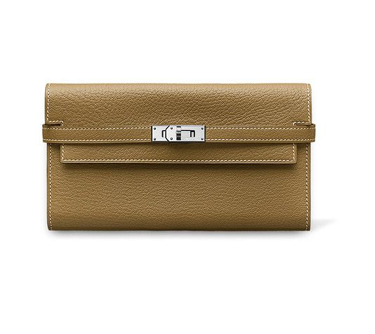 Kelly Kelly long wallet (closed: 19.8 x 11.5 cm), double tab ...