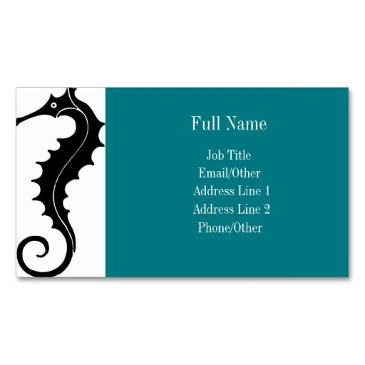 The 15 best business cards images on pinterest business cards turquoise sea horse business cards colourmoves