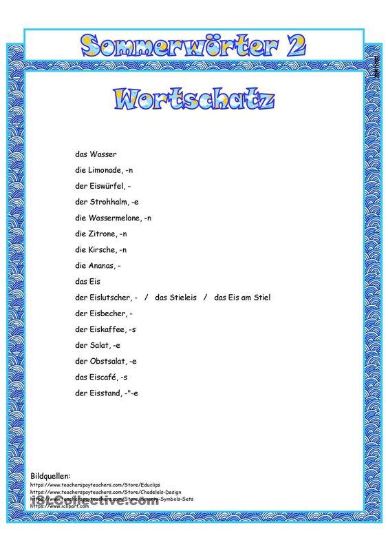 Sommer 2 _ Bildwörterbuch + AB + sw-Version