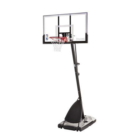 Spalding Nba 54 Portable Angled Basketball Hoop With Polycarbonate Backboard Walmart Com Basketball Hoop Portable Basketball Hoop Nba Basketball Hoop