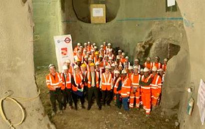Green Park Underground Station became step-free, marking a key milestone in Transport for London's readiness for the 2012 Olympic and Paralympic Games. The project contained some significant risks and was delivered ahead of schedule and under budget in the constrained environment of a sub-surface operational railway and a Royal Park. Above is a team photo at the bottom of a lift shaft prior to final concrete lining. Submitted by Fred Green.