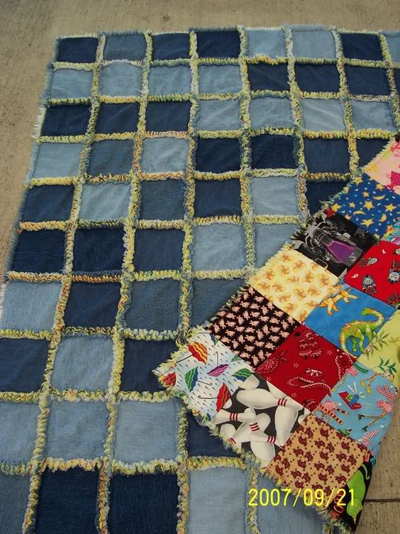 Denim Quilt Made From Recycled Jeans Stuff I Want To