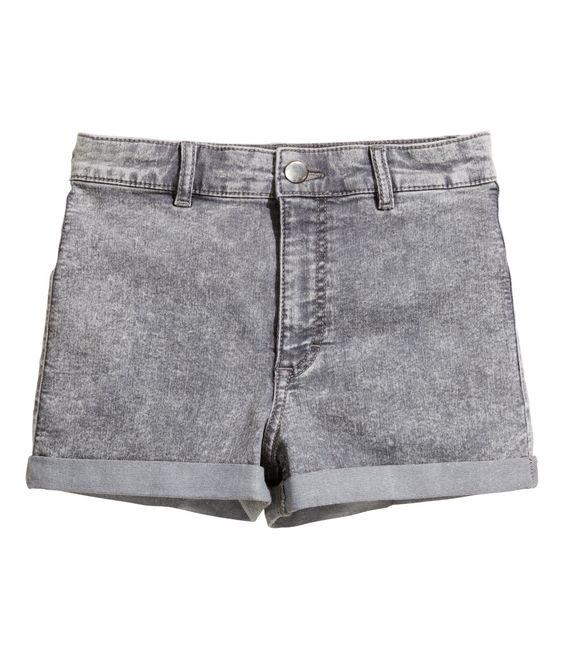 High Waisted Grey Shorts