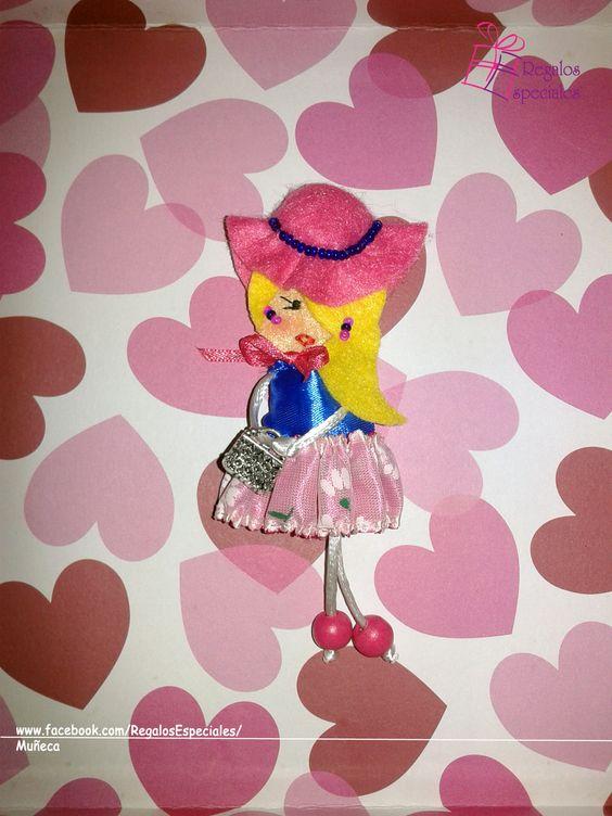 Muñeca coqueta y adorable.  www.facebook.com/RegalosEspeciales/