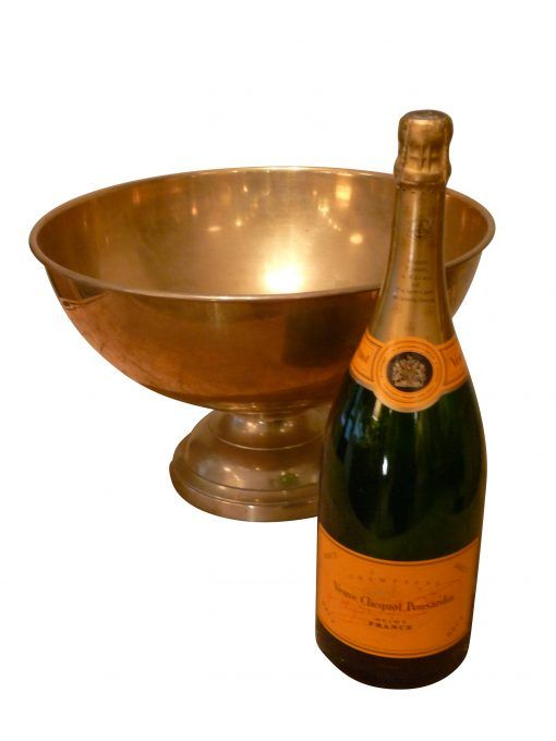 Champagne Bowl and Bottle  | The Outpost  #antiques #interiors #design #home #interiordesign #midcentury #modern #handcrafted #handmade #vintage