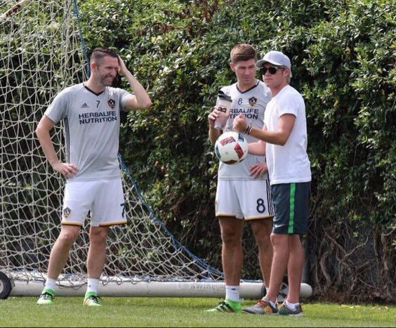 Niall training with LA Galaxy at the Stubhub centre recently 3/4/15