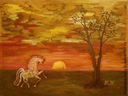 Картина Веселый вечерок смешанная техника размер 80 х 60 - картина,картины