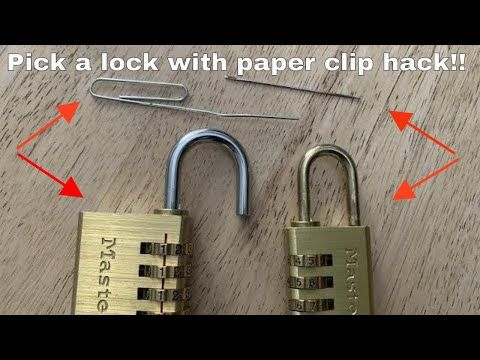 How To Pick A Combination Lock With A Paper Clip Sewing Needle Life Hack Youtube Lock Paper Clip Life Hacks