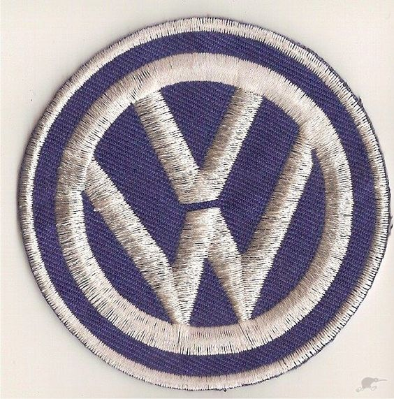 Vw embroidered patch round logo trade me combies