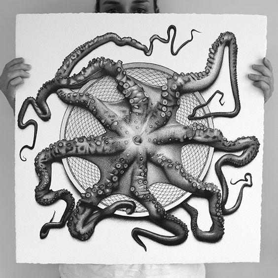 50 Foods fotorrealistas Ilustrações em 50 Days_1 em arte