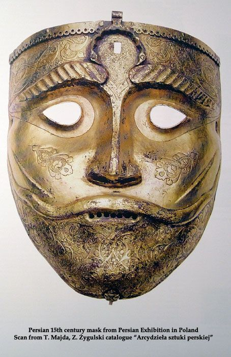 Persian 15th century mask from the Persian Exhibition in Poland.: