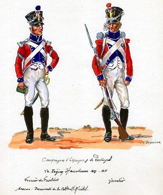 Hanover; Hanover Legion in French Service, Fusilier, Fourier & Grenadier in Spain