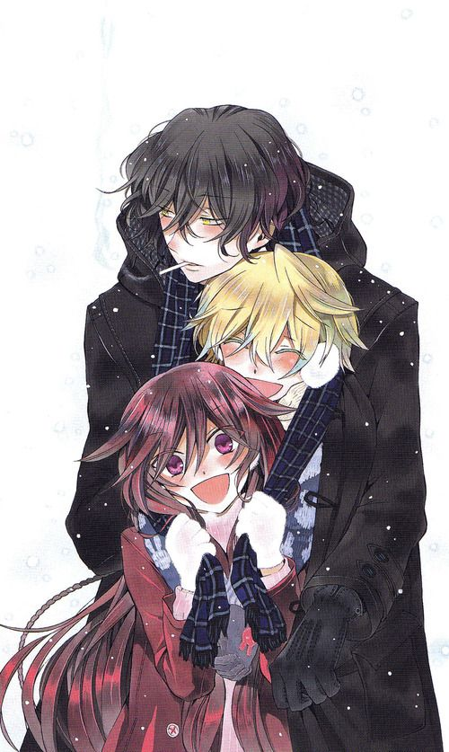 I am seriously starting to get into this> >Pandora Hearts; Gil, Oz, and Alice