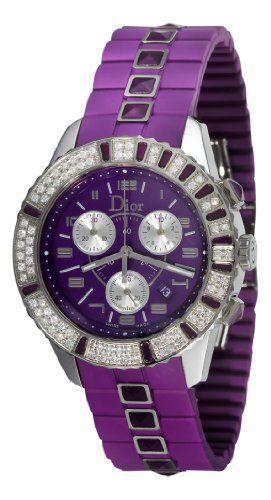 Christian Dior Unisex CD11431JR001 Christal Chronograph Diamond Purple Dial Watch - List price: $6,350.00 Price: $5,494.99