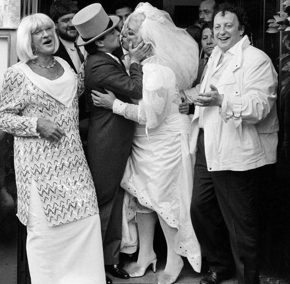 mariage Le Luron & Coluche le 25 septembre 1985