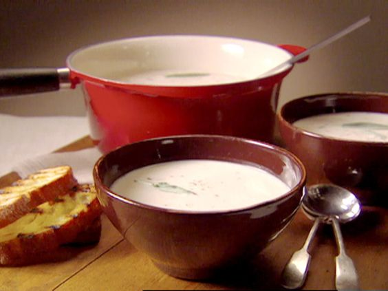 This is so simple and deliciously decadent! Tuscan White Bean and Garlic Soup from FoodNetwork.com