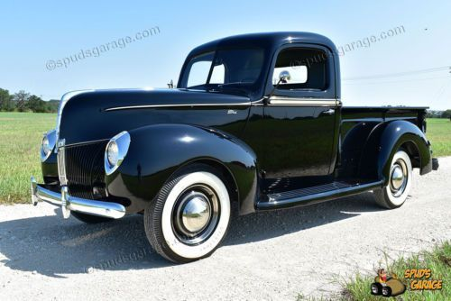 1940 Ford 1 2 Ton Pick Up Flathead V8 All Steel Body Off Restoration Black Picku Classic Ford Trucks Old Trucks For Sale Old Classic Cars