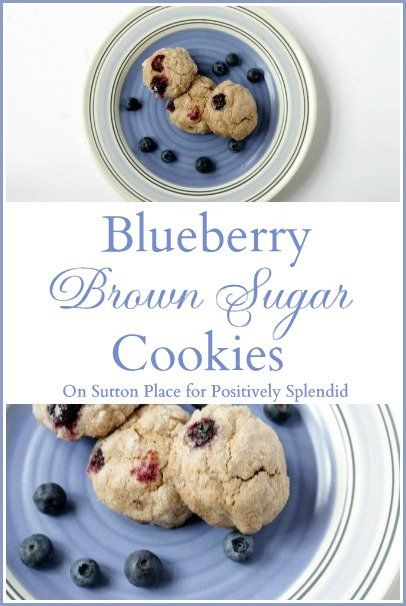Blueberry Brown Sugar Cookies from On Sutton Place