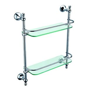 Chrome Finish Brass Contemporary Bathroom Accessories Double Glass Shelf - See more at: http://www.homelava.com/en-chrome-finish-brass-contemporary-bathroom-accessories-double-glass-shelf-p5522.htm#sthash.iBaXlvCr.dpuf
