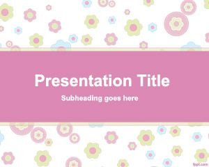 Plantilla PowerPoint con vector de flores es un diseño infantil pero para presentaciones donde se necesiten flores o colores claros