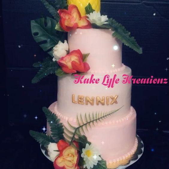 Luau Baby Shower Cake Cake Babyshower Itsagirl Luau Cakebaker Houstoncakedecorator Blackownedbusiness Bestcakesinhoust Baby Shower Cakes Shower Cakes Cake